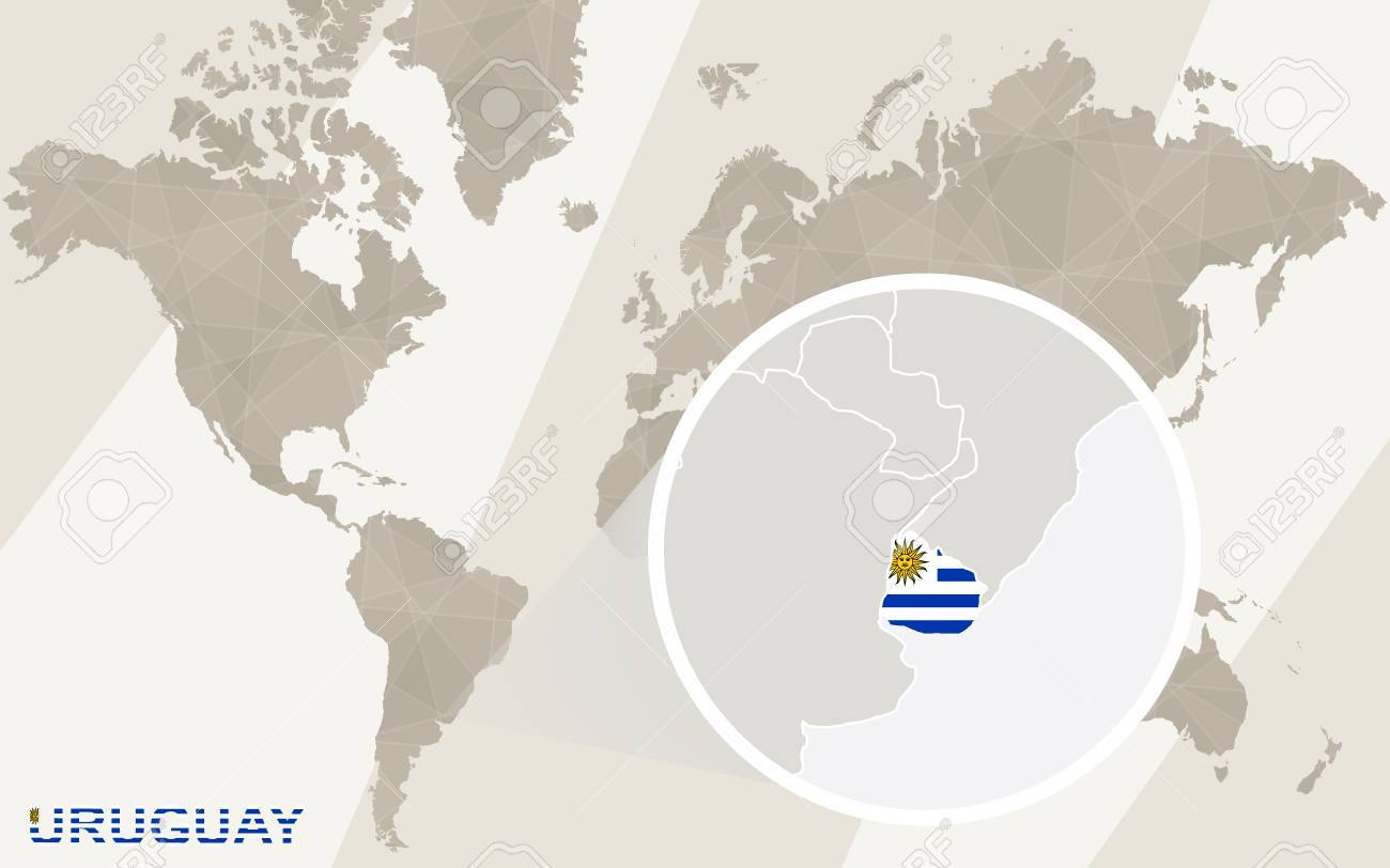 Zoom on uruguay map and flag world map royalty free cliparts vector zoom on uruguay map and flag world map gumiabroncs Images