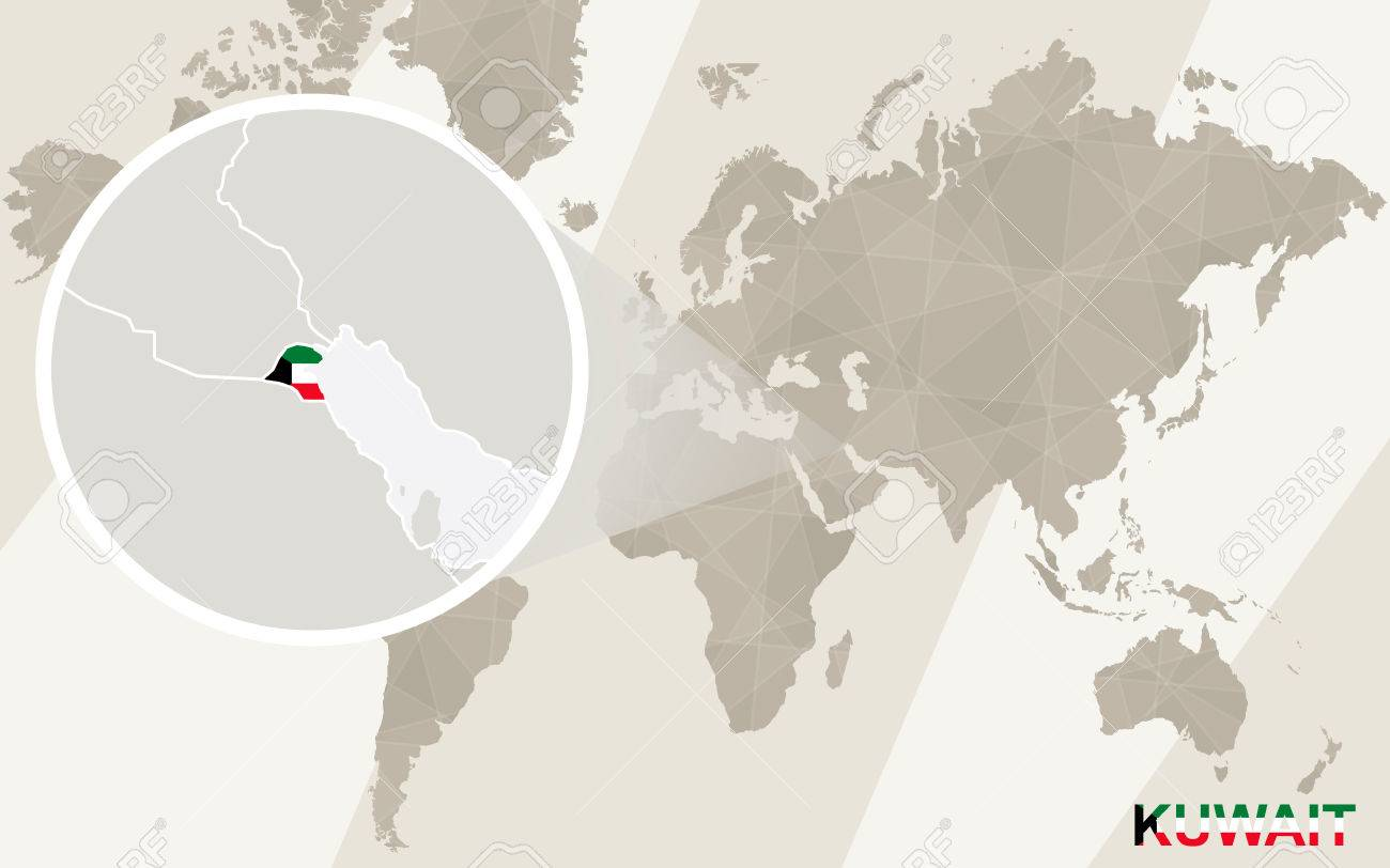 Zoom on Kuwait Map and Flag. World Map. Kuwait World Map on switzerland on world map, nigeria world map, belgium world map, palestine world map, turkey world map, iraq world map, iceland world map, israel map, cameroon world map, qatar world map, mauritius world map, netherlands world map, fiji world map, afghanistan map, cuba world map, singapore world map, jordan world map, tehran world map, syria world map, vietnam world map,