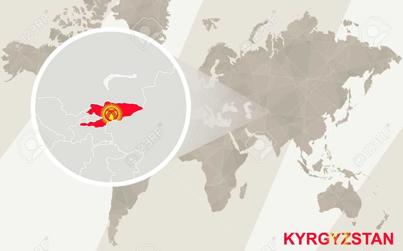 Zoom on kyrgyzstan map and flag world map royalty free cliparts vector zoom on kyrgyzstan map and flag world map gumiabroncs Choice Image