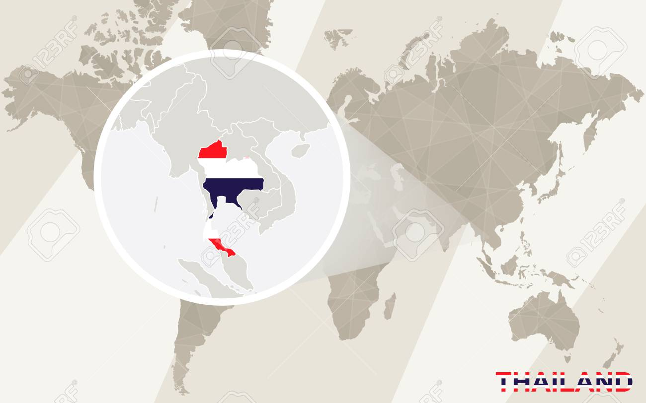Zoom on thailand map and flag world map royalty free cliparts vector zoom on thailand map and flag world map gumiabroncs Image collections
