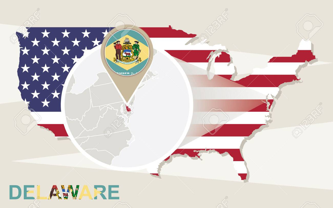 Delaware Location On The US Map Reference Map Of Delaware USA - Us map delaware