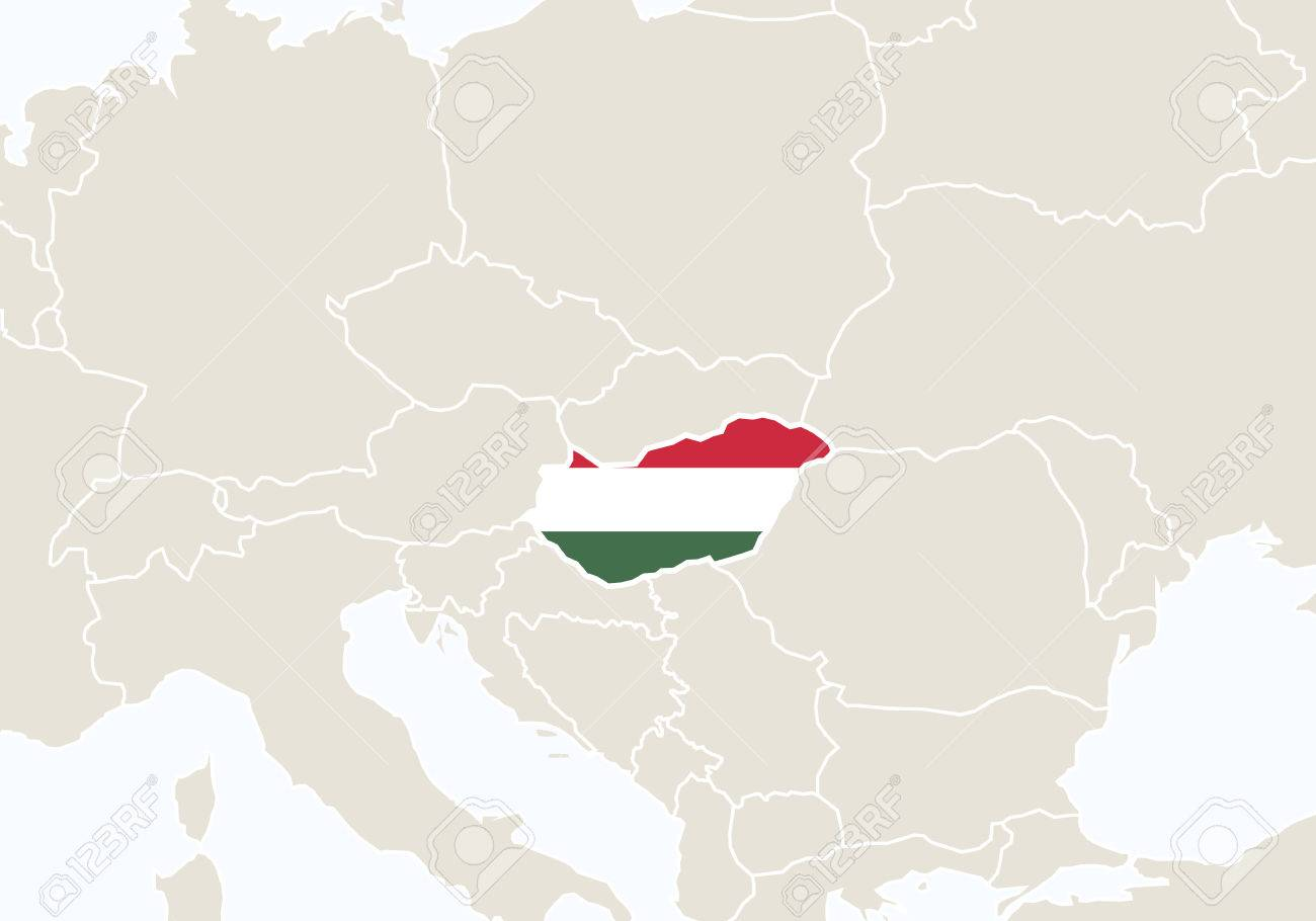 Picture of: Europe With Highlighted Hungary Map Vector Illustration Royalty Free Cliparts Vectors And Stock Illustration Image 54207509