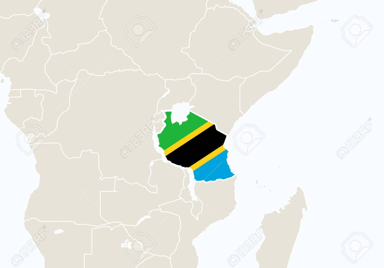 Image of: Africa With Highlighted Tanzania Map Vector Illustration Royalty Free Cliparts Vectors And Stock Illustration Image 54208355