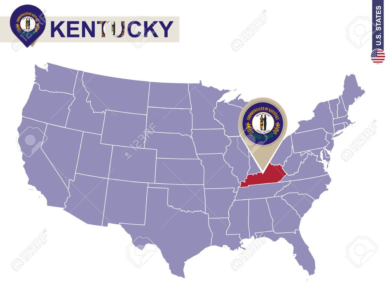Usa Map Kentucky State - Us map of kentucky