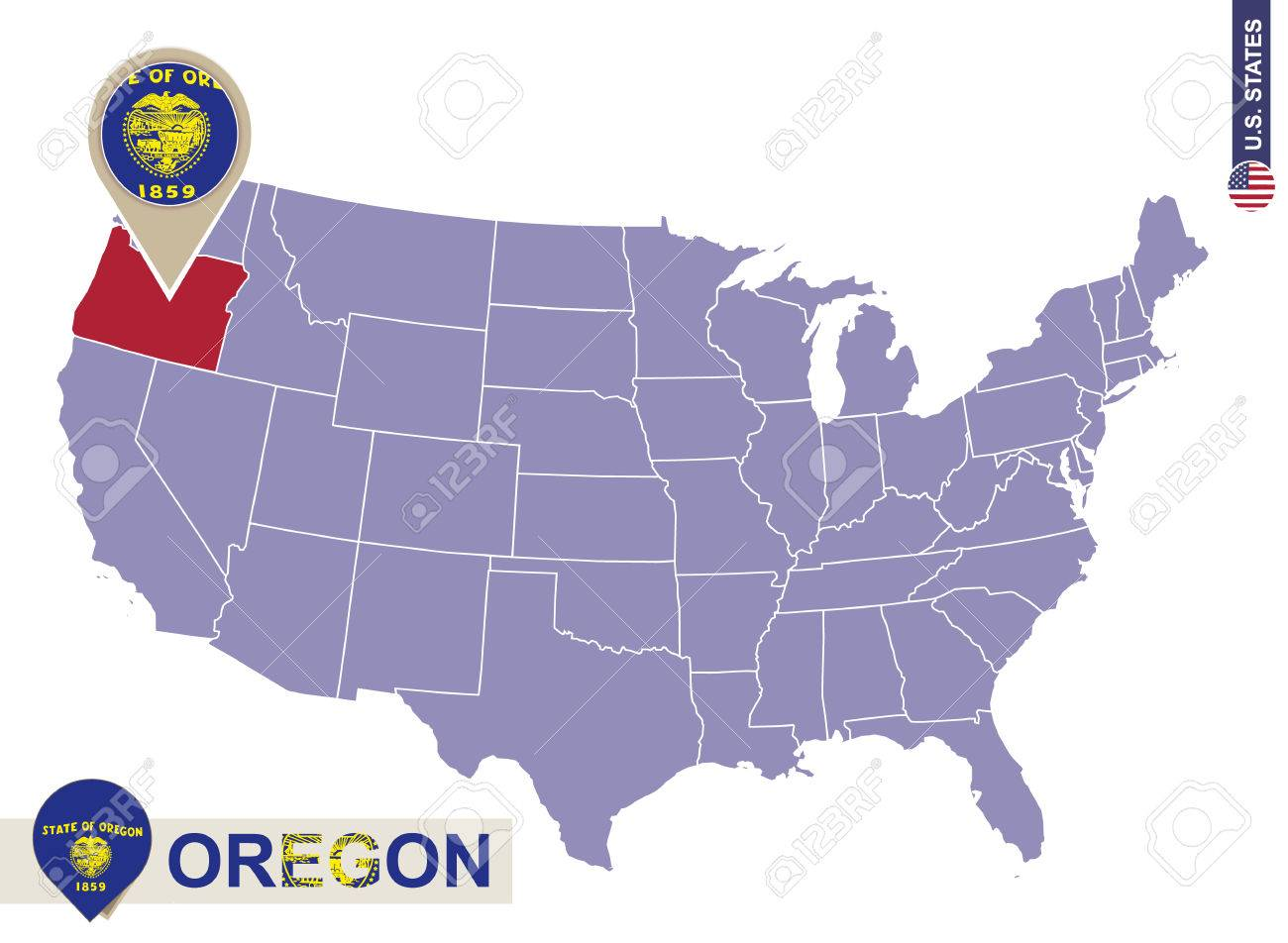 Oregon Maps And Data MyOnlineMapscom OR Maps Portland Oregon In - Us map apprenticeship program