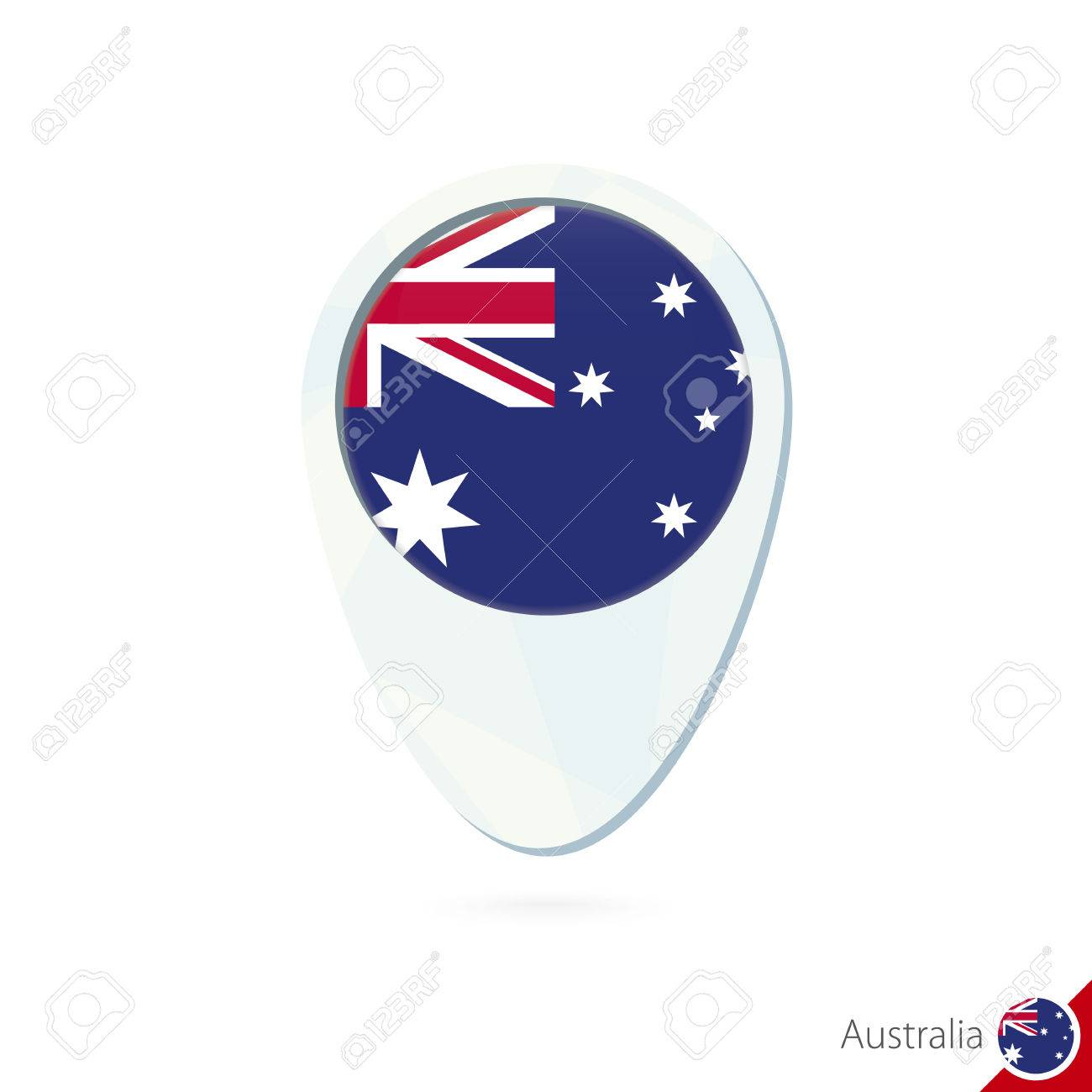Australia flag location map pin icon on white background vector australia flag location map pin icon on white background vector illustration stock vector gumiabroncs Images