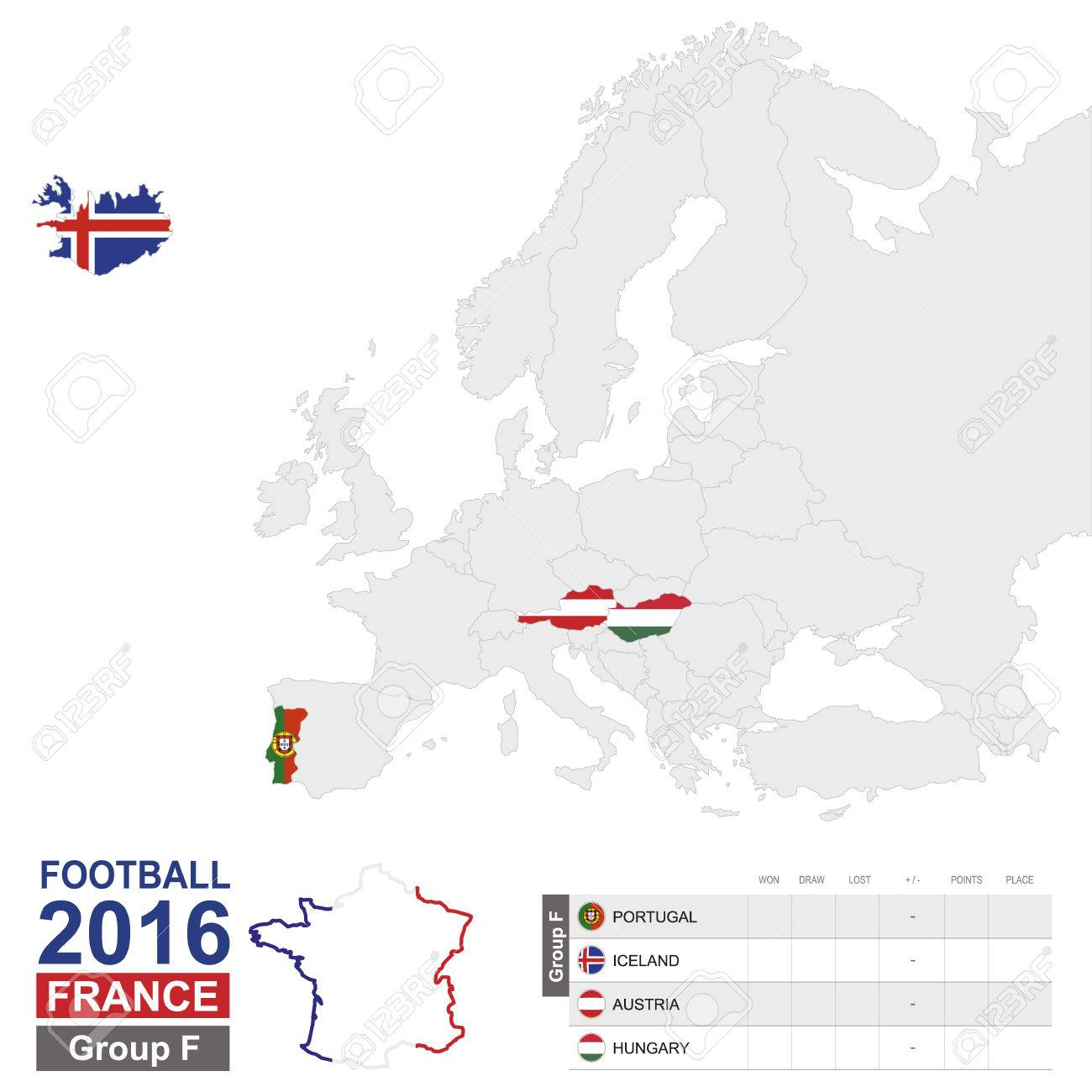 Football 2016 group f table group f highlighted on europe map group f highlighted on europe map portugal gumiabroncs Images