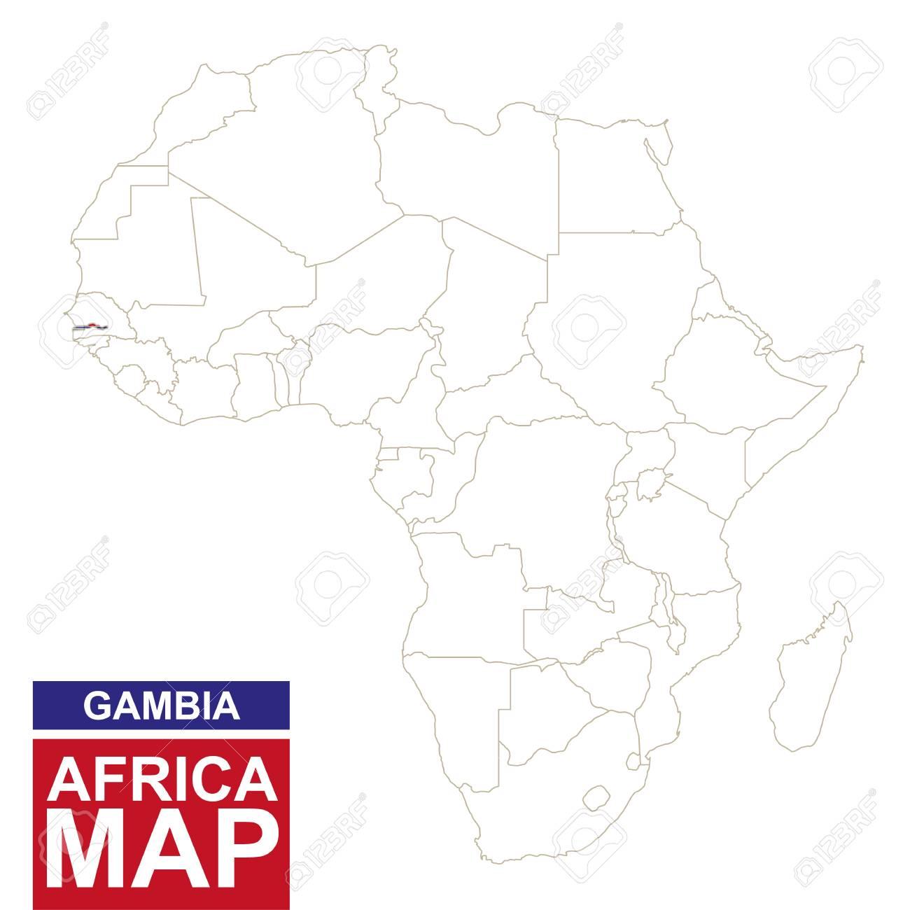Mapa contorneada con frica gambia resaltado gambia mapa y la foto de archivo mapa contorneada con frica gambia resaltado gambia mapa y la bandera en el mapa de frica ilustracin del vector gumiabroncs Gallery