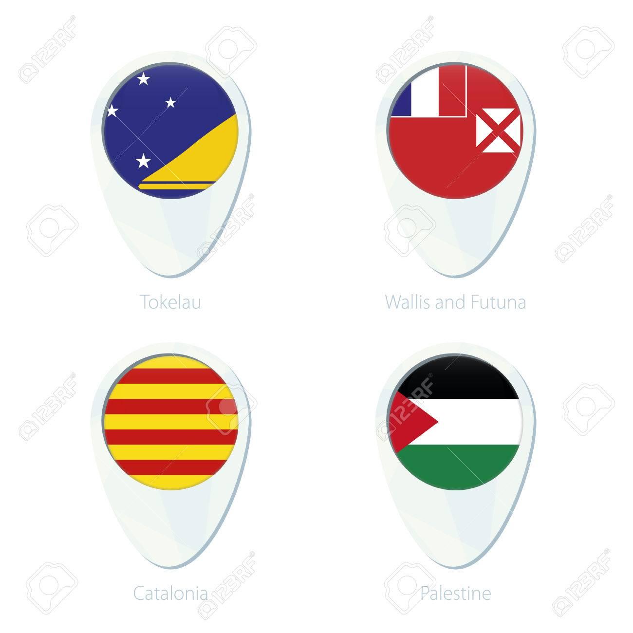 Tokelau Wallis And Futuna Catalonia Palestine Flag Location