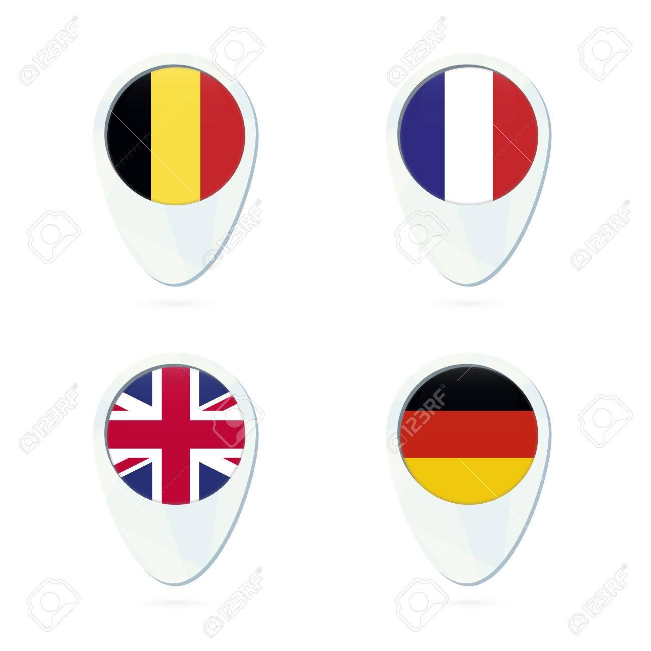 belgium france united kingdom germany flag location map pin icon belgium flag