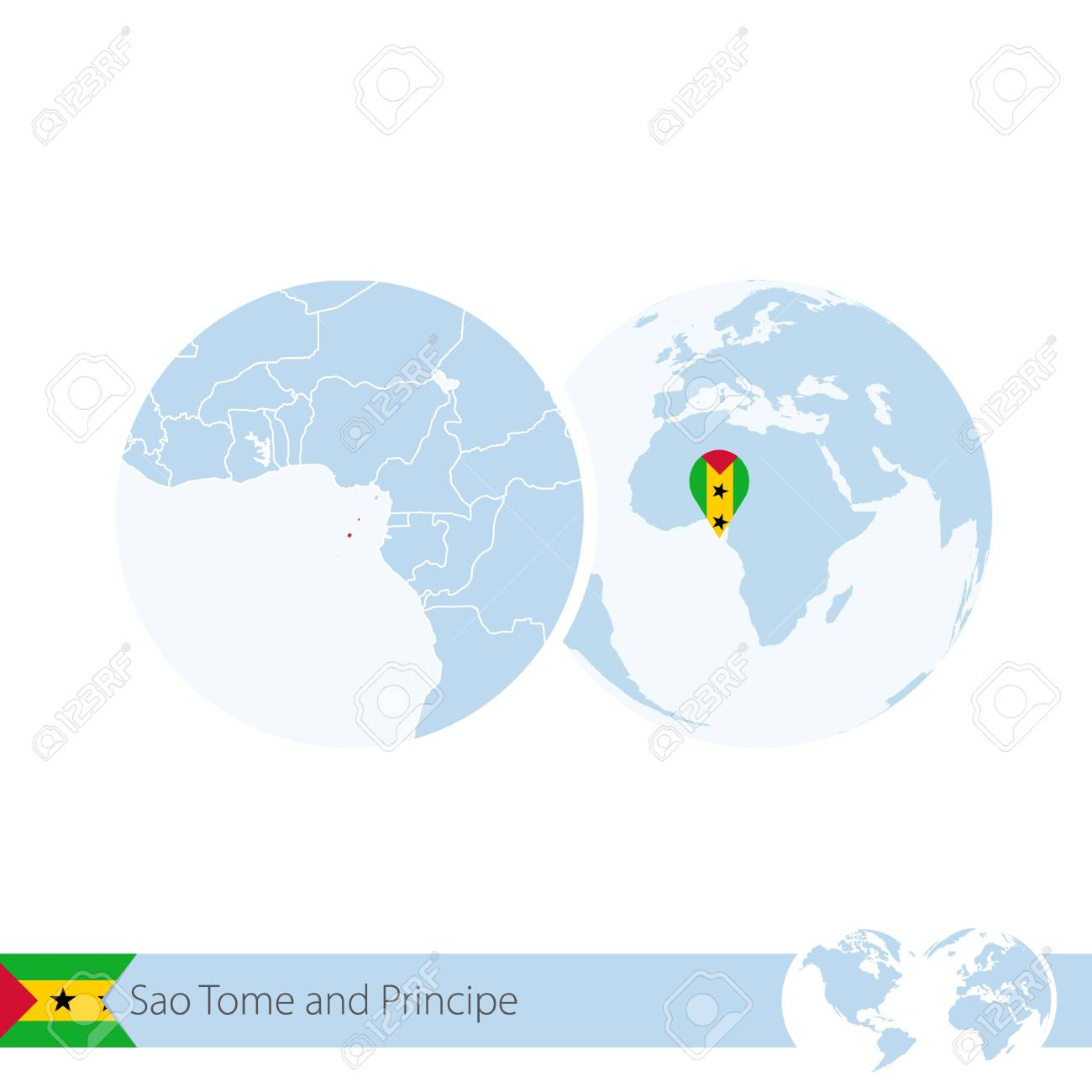 Sao Tome and Principe on world globe with flag and regional map.. Sao Tome And Principe On World Map on bahia on world map, united republic of tanzania on world map, isle of man on world map, turks and caicos islands on world map, northern mariana islands on world map, british virgin islands on world map, antigua and barbuda on world map, manama on world map, freetown on world map, cocos islands on world map, reunion on world map, sao tome e principe flag, british guiana on world map, democratic republic of the congo on world map, saint kitts and nevis on world map, mayotte on world map, holy see on world map, republic of korea on world map, principe island map, northern ireland on world map,