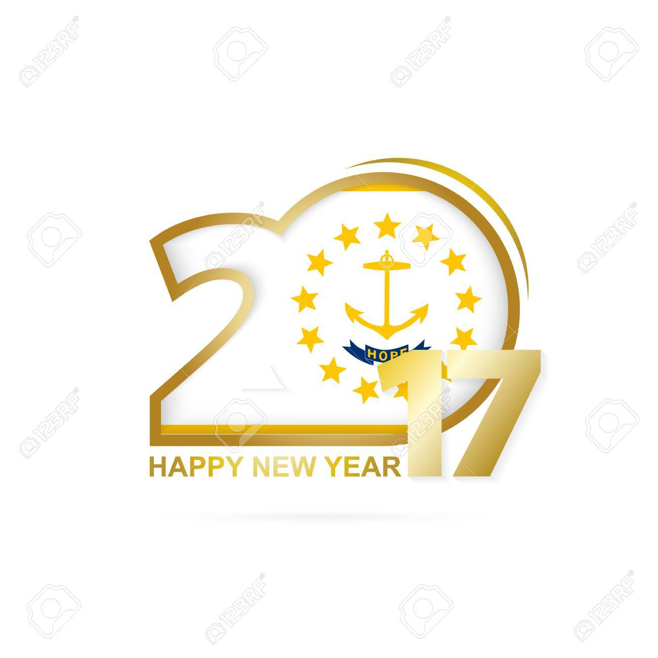 Year 2017 with rhode island state flag pattern happy new year year 2017 with rhode island state flag pattern happy new year design on white background biocorpaavc Choice Image