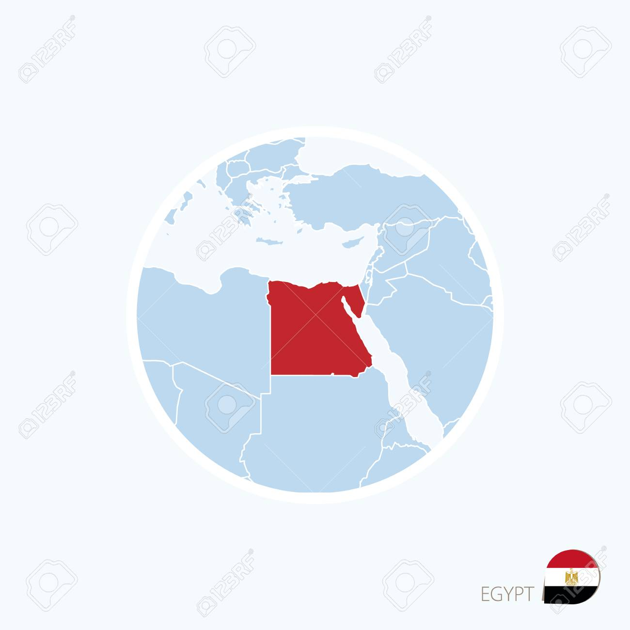 Map icon of egypt blue map of europe with highlighted egypt map icon of egypt blue map of europe with highlighted egypt in red color gumiabroncs Image collections