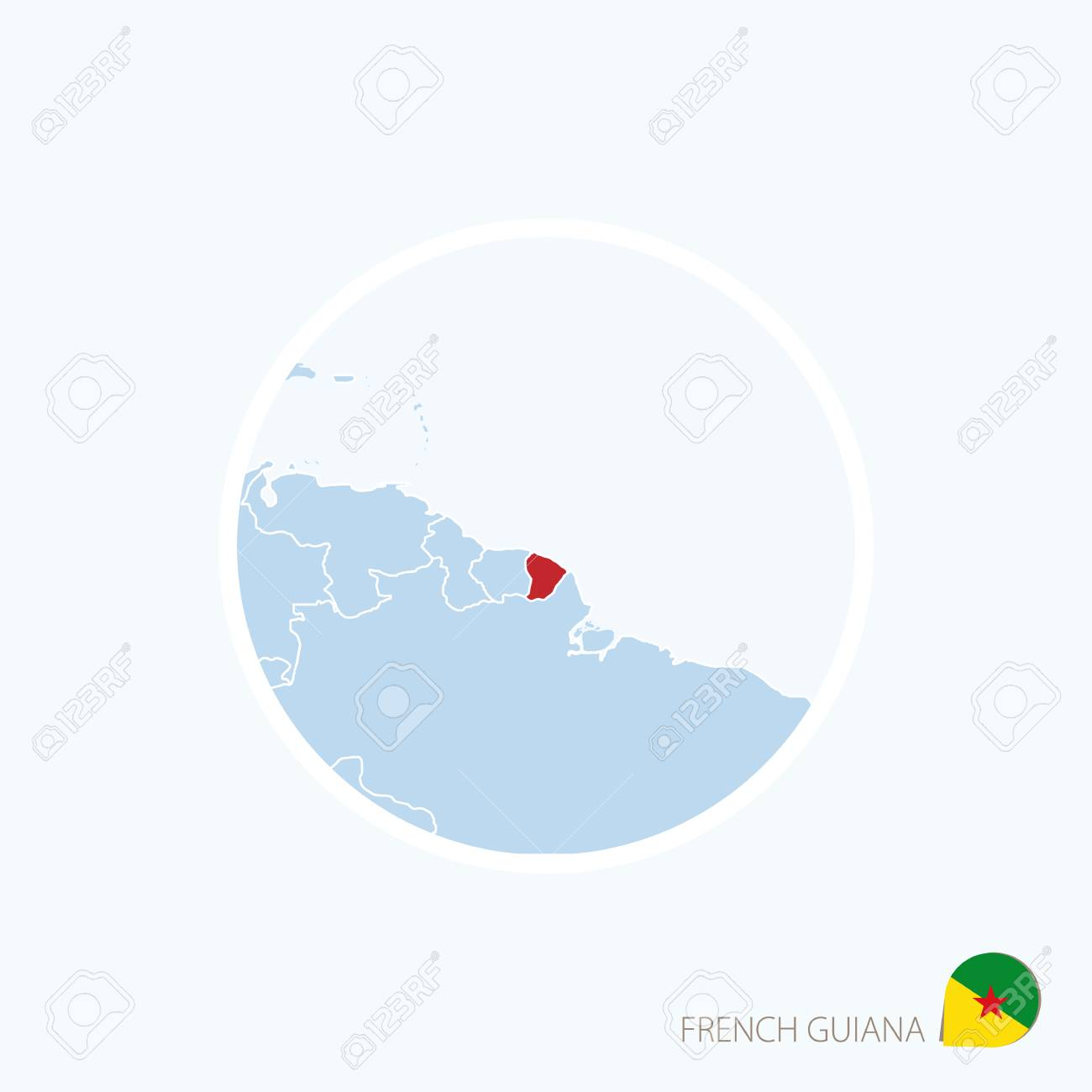 Map icon of french guiana blue map of south america with map icon of french guiana blue map of south america with highlighted french guiana in gumiabroncs Choice Image