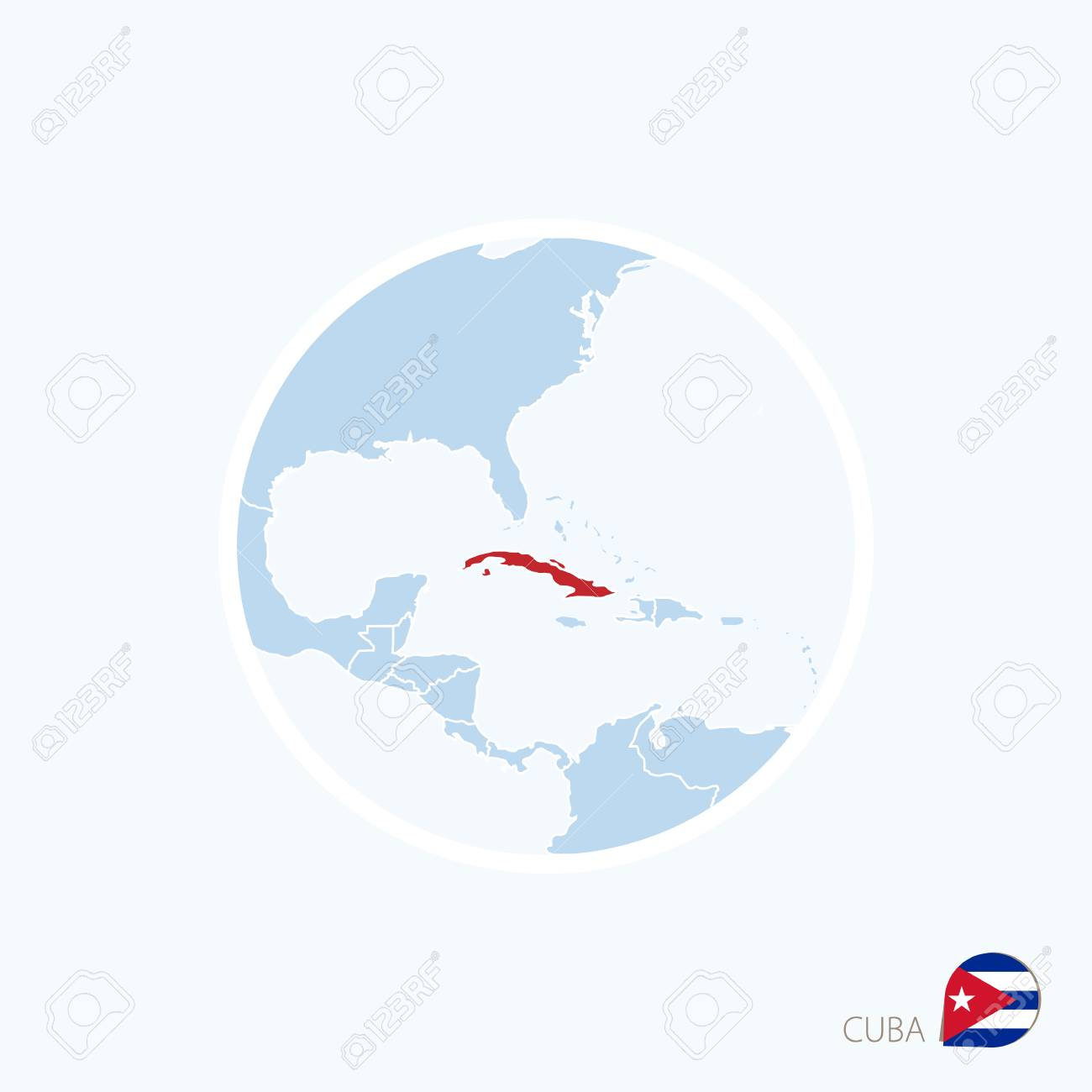 Map icon of cuba blue map of caribbean with highlighted cuba map icon of cuba blue map of caribbean with highlighted cuba in red color gumiabroncs Image collections