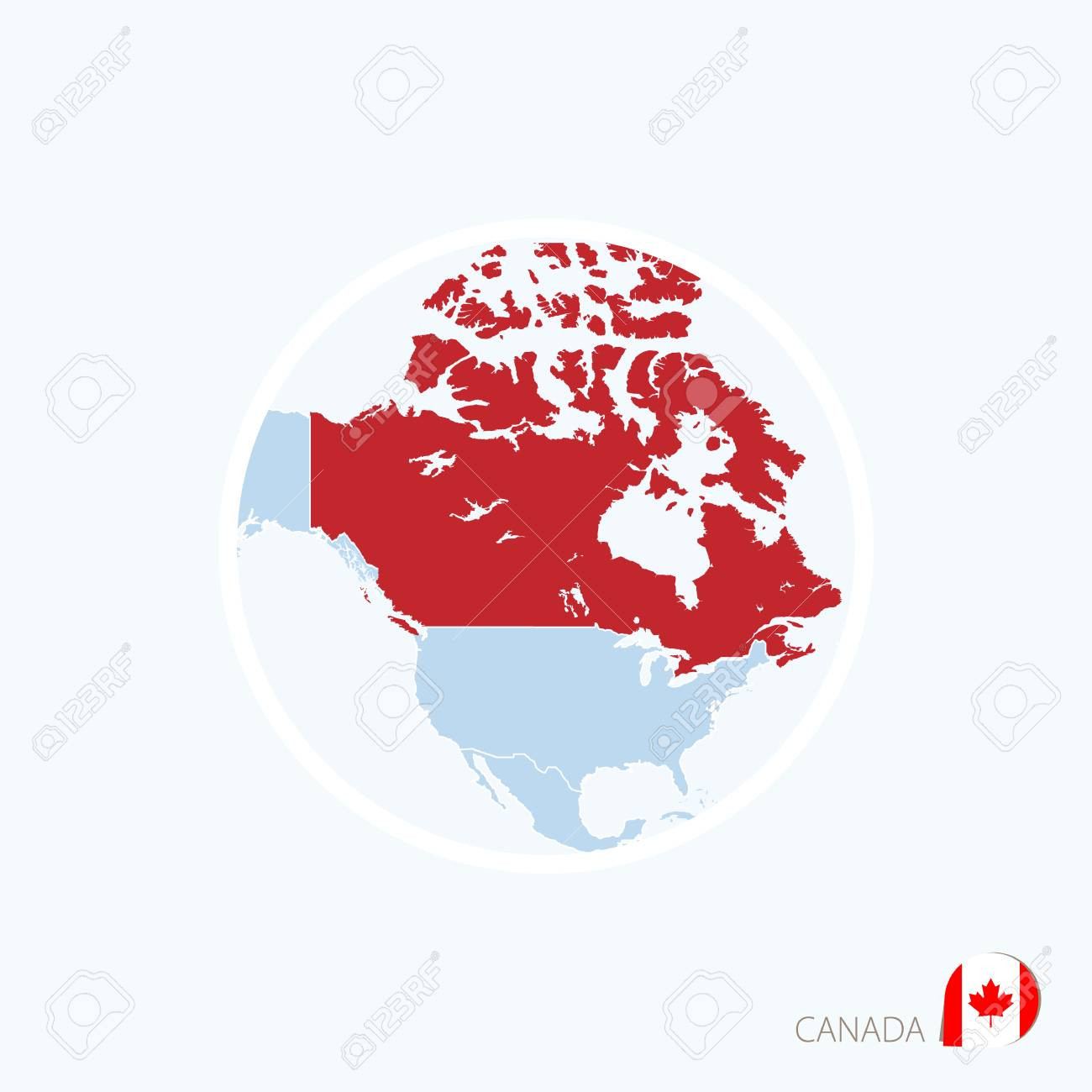Map icon of canada blue map of north america with highlighted map icon of canada blue map of north america with highlighted canada in red color gumiabroncs Image collections