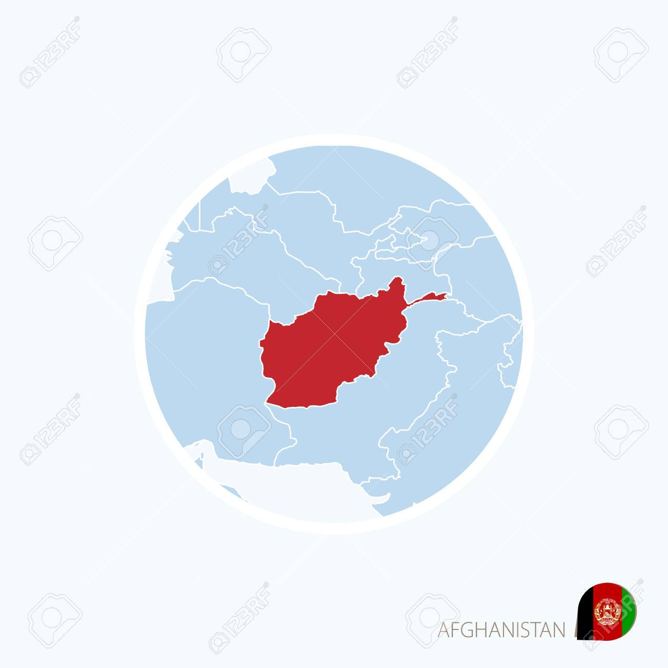 Map icon of afghanistan blue map of south asia with highlighted map icon of afghanistan blue map of south asia with highlighted afghanistan in red color gumiabroncs Image collections