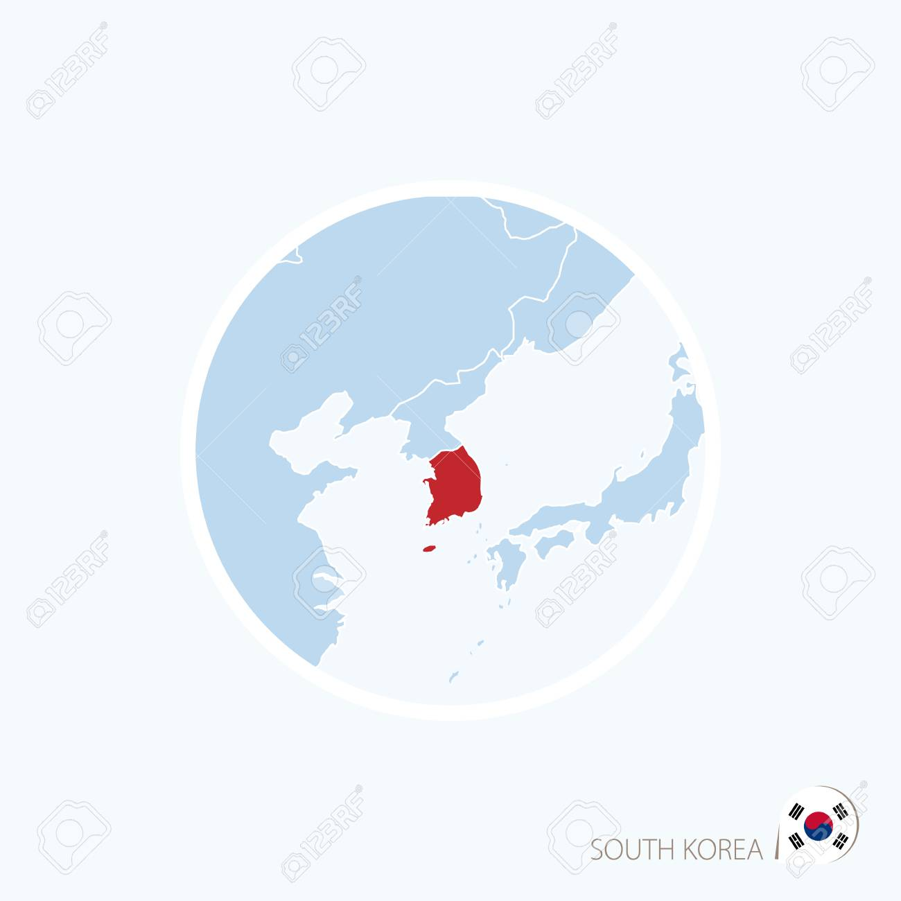 Map icon of south korea blue map of east asia with highlighted map icon of south korea blue map of east asia with highlighted south korea in gumiabroncs Images