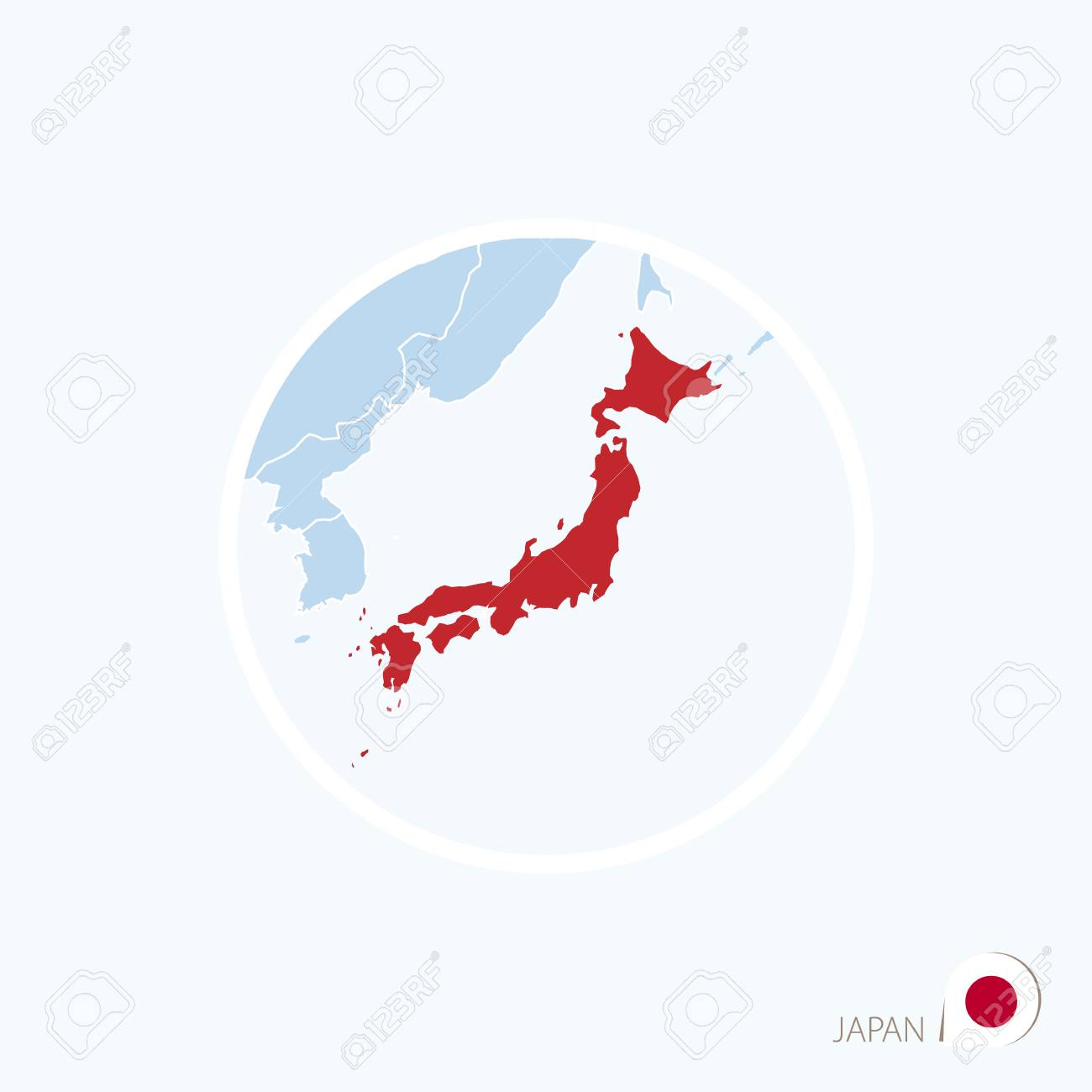 Picture of: Map Icon Of Japan Blue Map Of East Asia With Highlighted Japan Royalty Free Cliparts Vectors And Stock Illustration Image 72222133