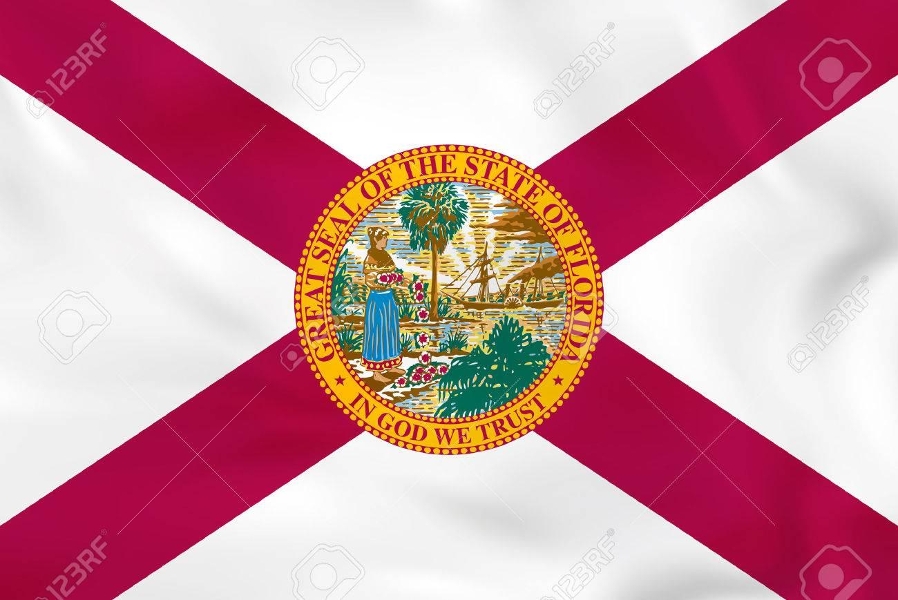 Florida waving flag. Florida state flag background texture.Vector illustration. - 76974615