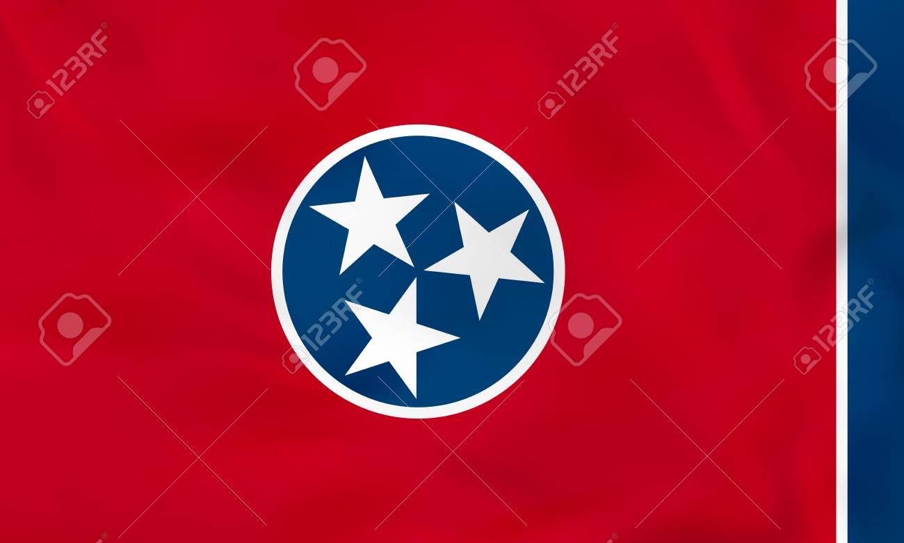Tennessee waving flag. Tennessee state flag background texture.Vector illustration. - 76974797