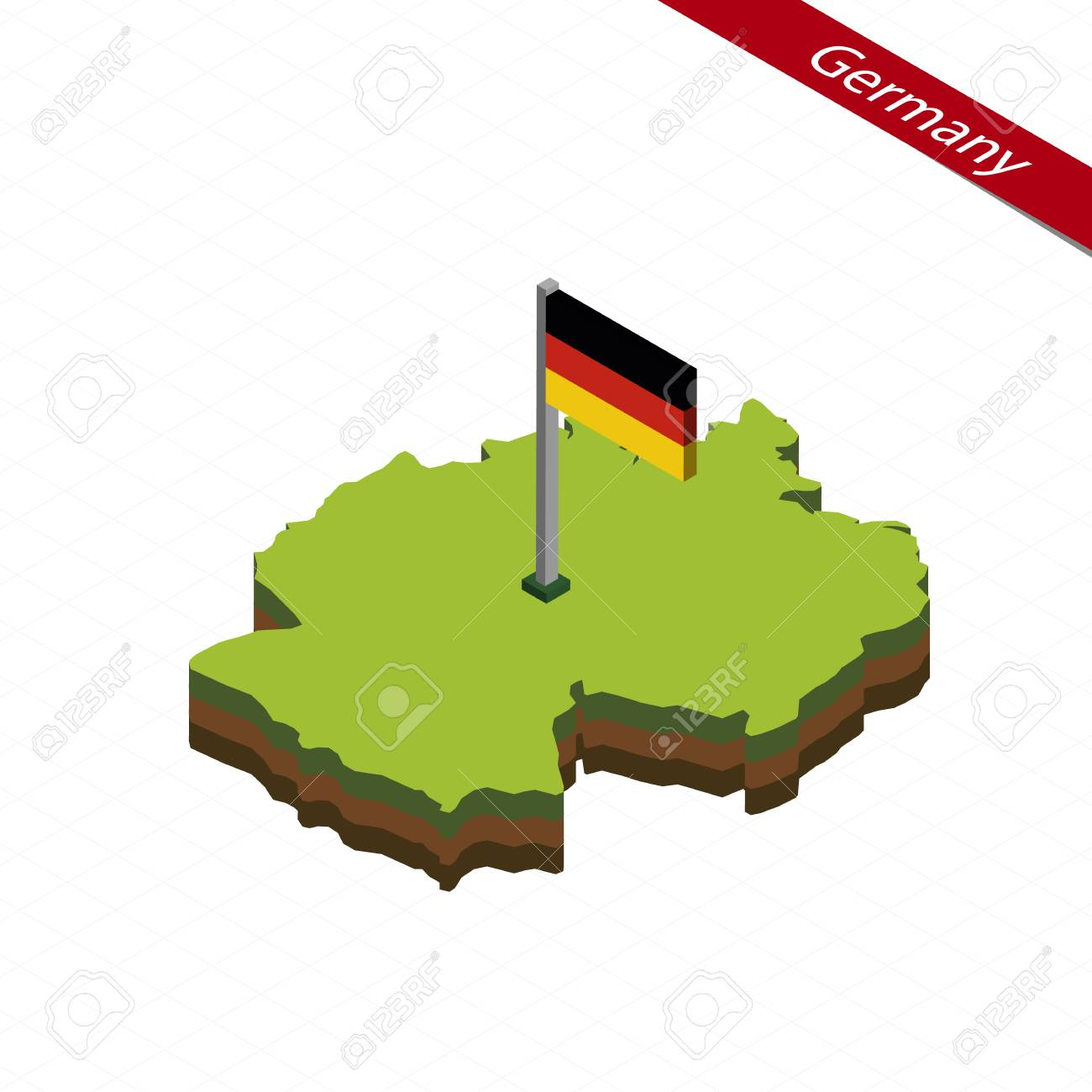 Map Of Germany 3d.Isometric Map And Flag Of Germany 3d Isometric Shape Of Germany