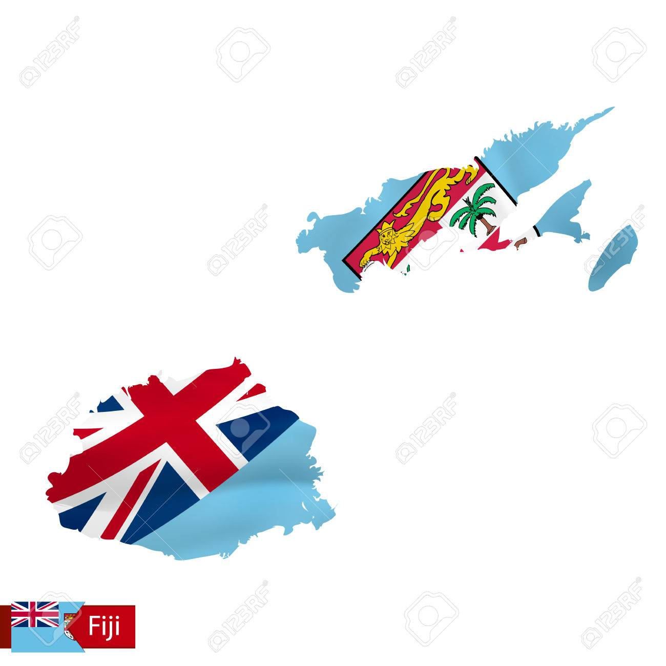 Fiji map with waving flag of country vector illustration royalty fiji map with waving flag of country vector illustration stock vector 85018297 gumiabroncs Gallery