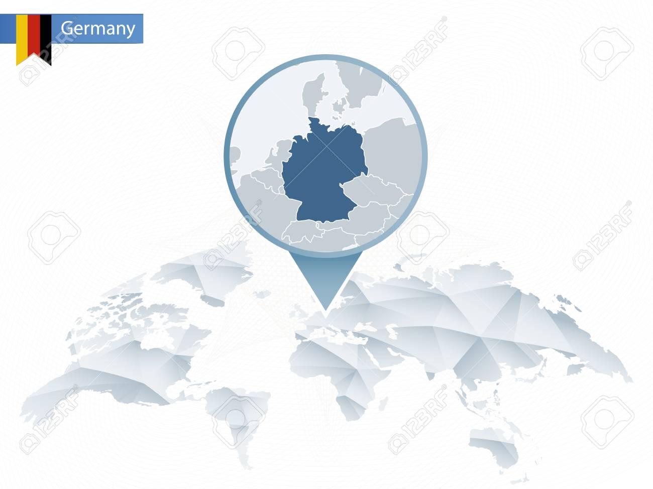 Zusammenfassung Rundete Weltkarte Mit Festgesteckter Ausführlicher