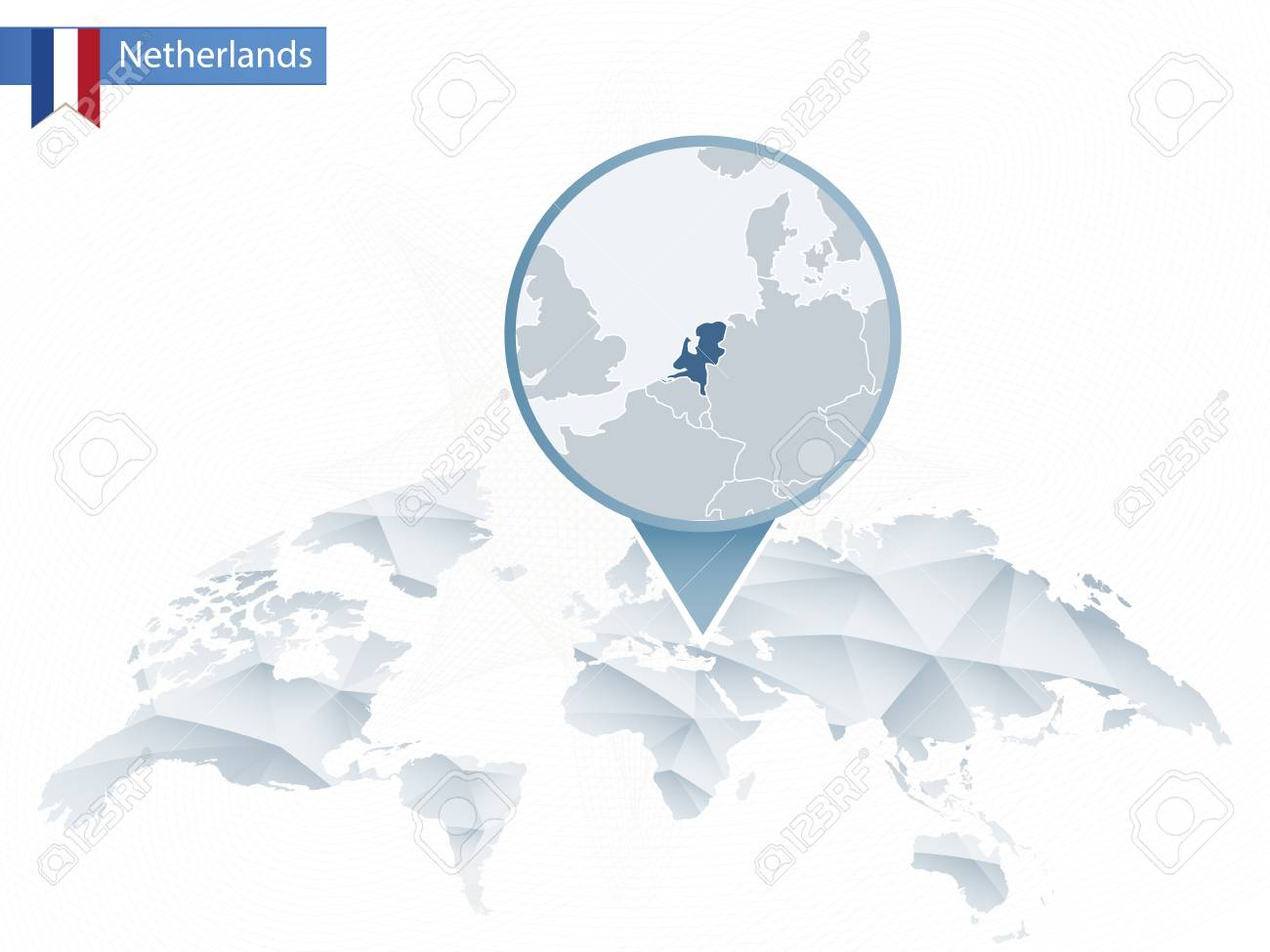 Abstract rounded world map with pinned detailed netherlands map abstract rounded world map with pinned detailed netherlands map map and flag of netherlands gumiabroncs Image collections