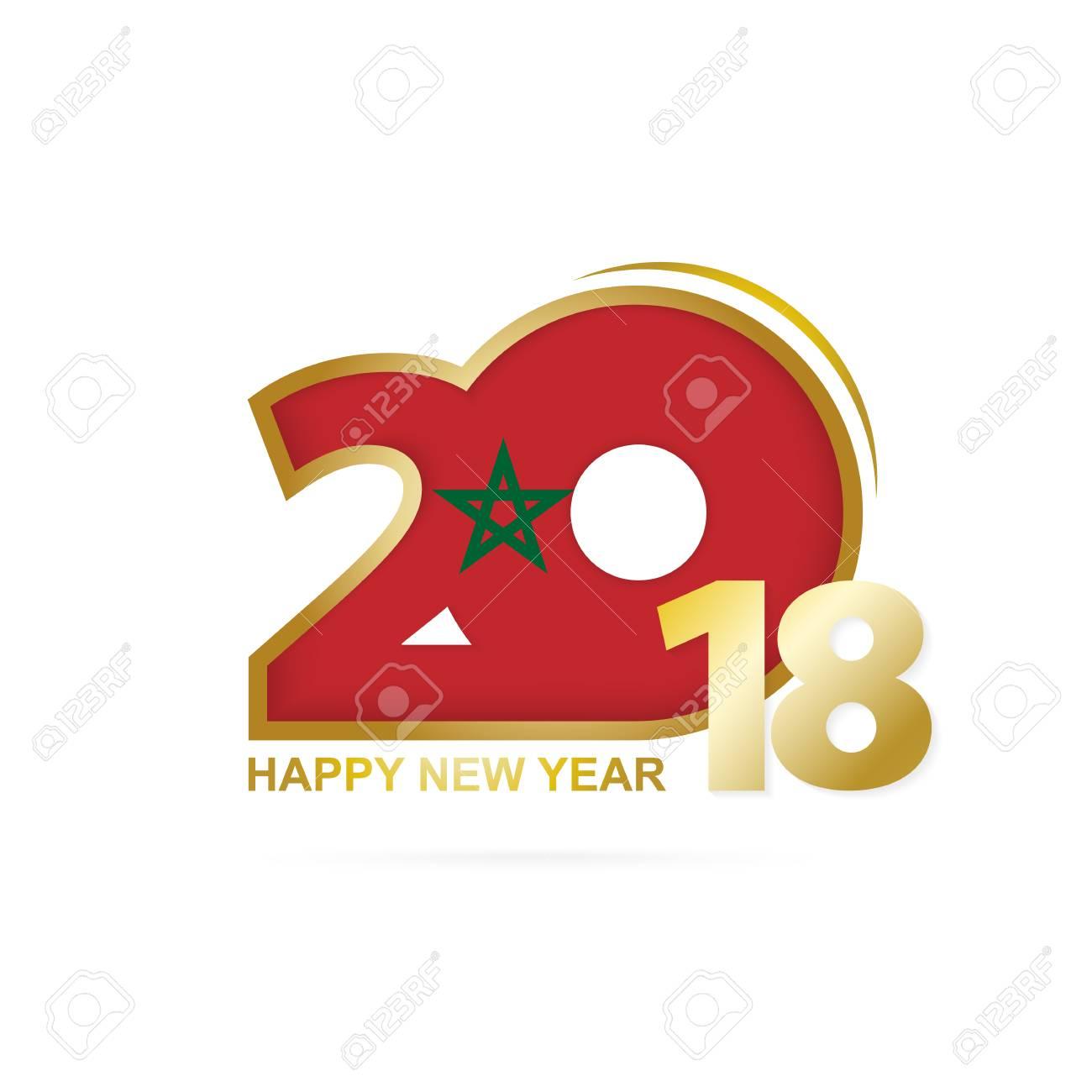 Year 2018 Happy New Year Design illustration. - 87571112