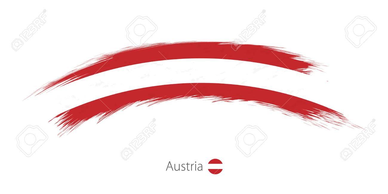Flag of Austria in rounded grunge brush stroke - 88394563