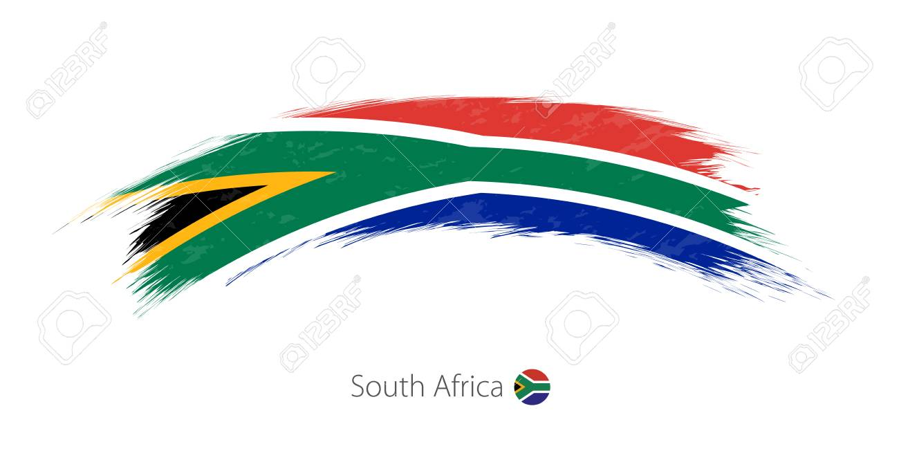 Flag of South Africa in rounded grunge brush stroke - 88580201