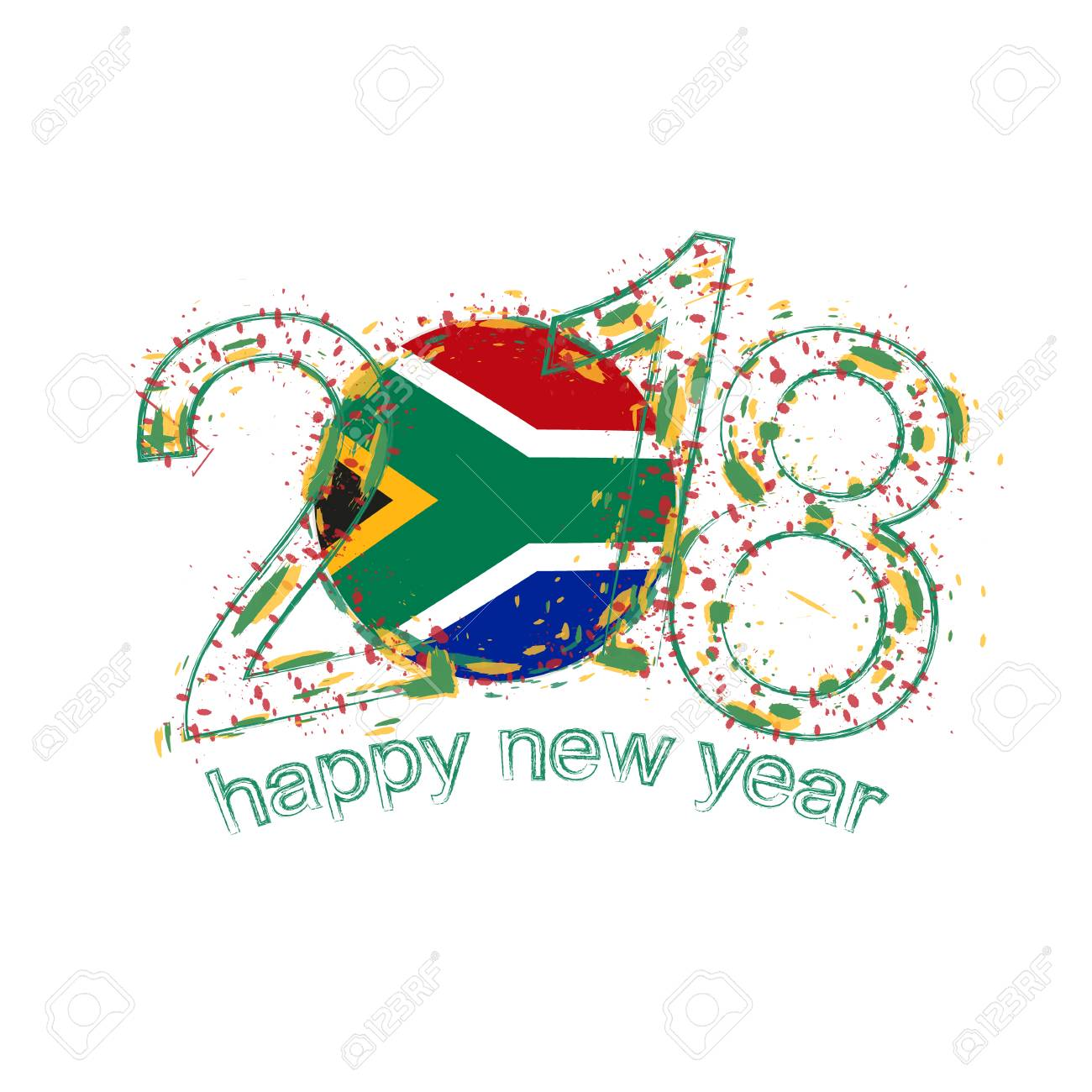 2018 happy new year south africa grunge vector template for greeting 2018 happy new year south africa grunge vector template for greeting card calendars 2018 m4hsunfo