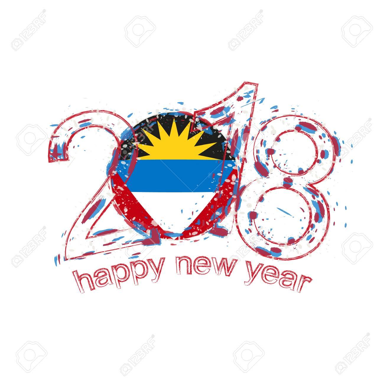 2018 happy new year antigua and barbuda grunge vector template 2018 happy new year antigua and barbuda grunge vector template for greeting card calendars 2018 kristyandbryce Images