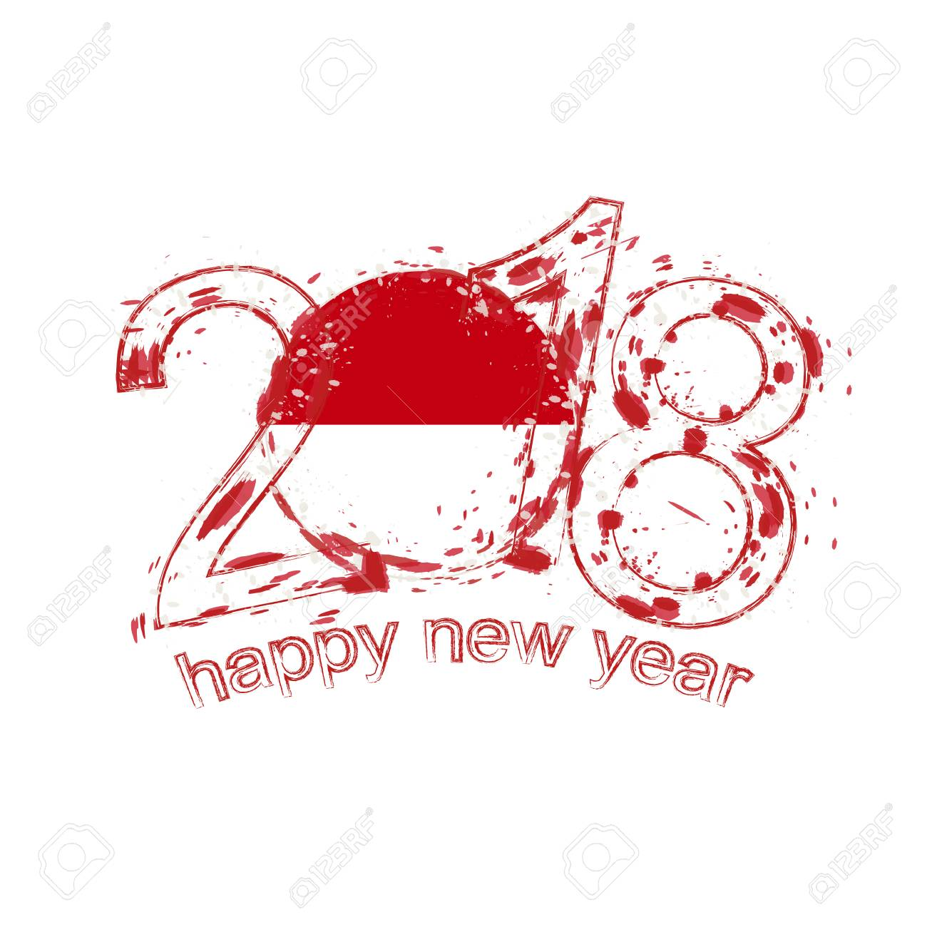 2018 happy new year indonesia grunge vector template for greeting 2018 happy new year indonesia grunge vector template for greeting card calendars 2018 seasonal kristyandbryce Images