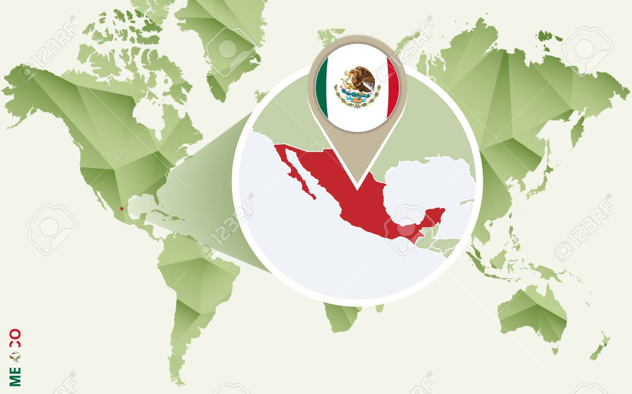 Infographic For Mexico, Detailed Map Of Mexico With Flag. Vector ...
