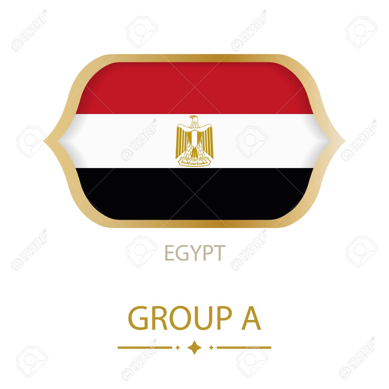 The Flag Of Egypt Is Made In The Style Of The Football World Royalty Free Cliparts Vectors And Stock Illustration Image 93632347