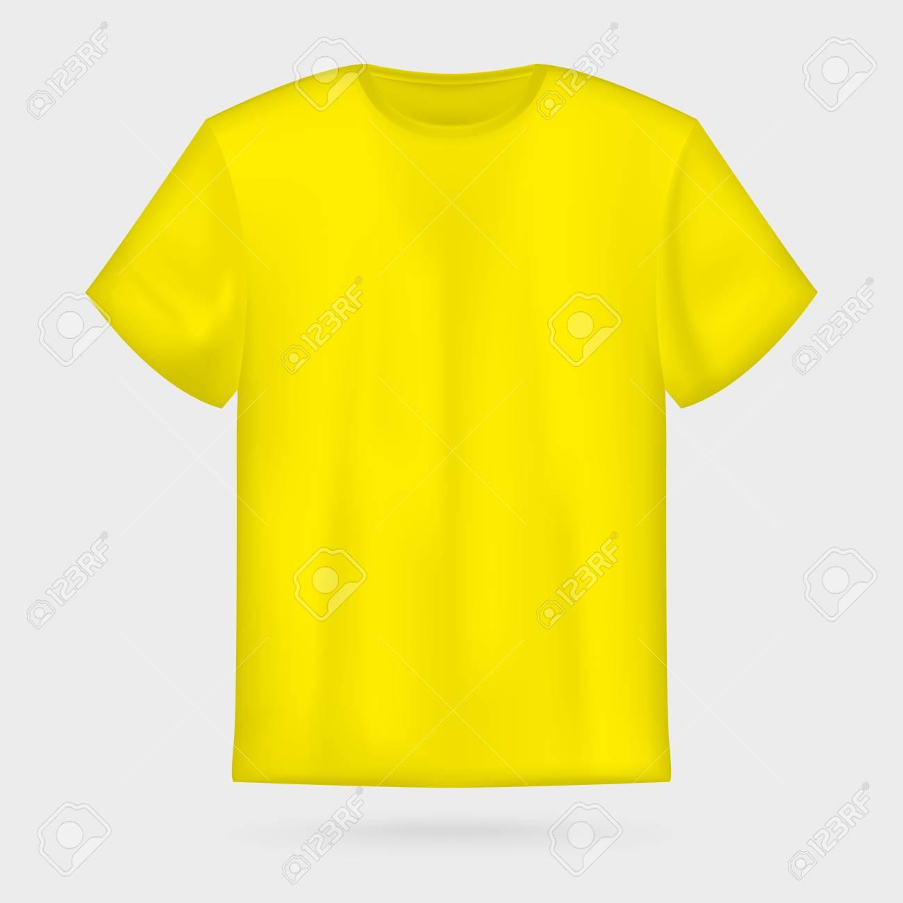 yellow vector men s t shirt mockup royalty free cliparts vectors