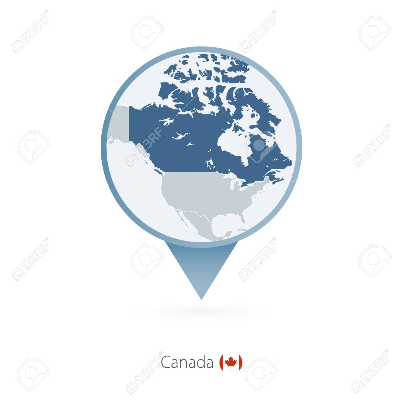 Map Of Canada And Surrounding Countries.Map Pin With Detailed Map Of Canada And Neighboring Countries