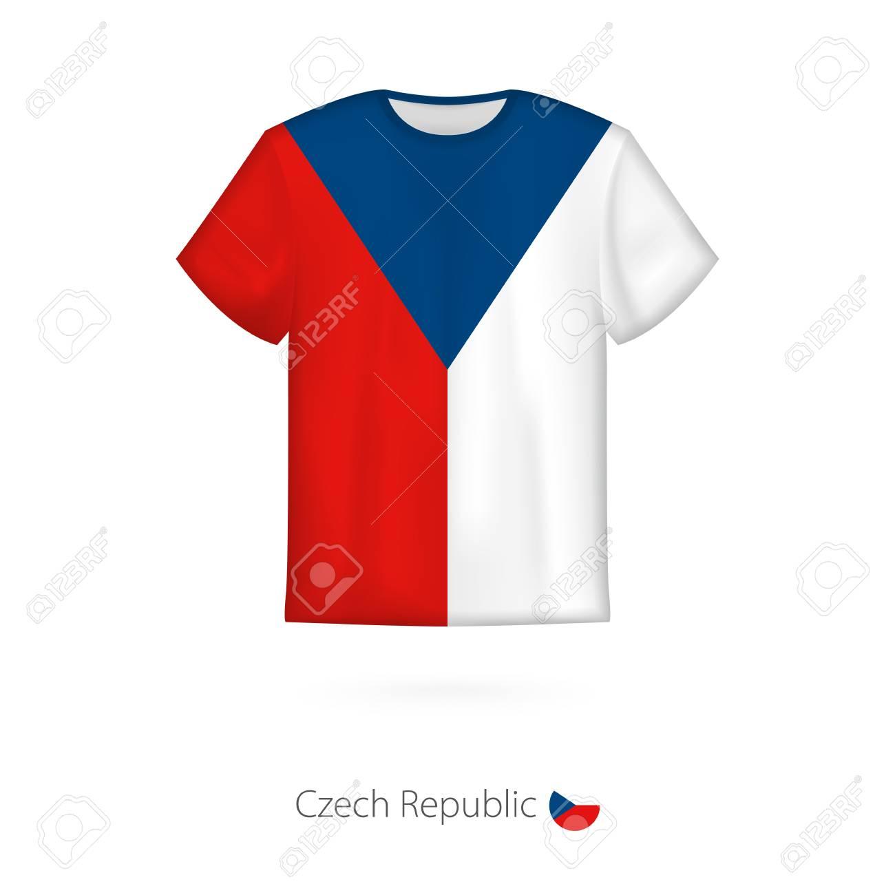 6af9f53cb T-shirt Design With Flag Of Czech Republic. T-shirt Vector Template ...
