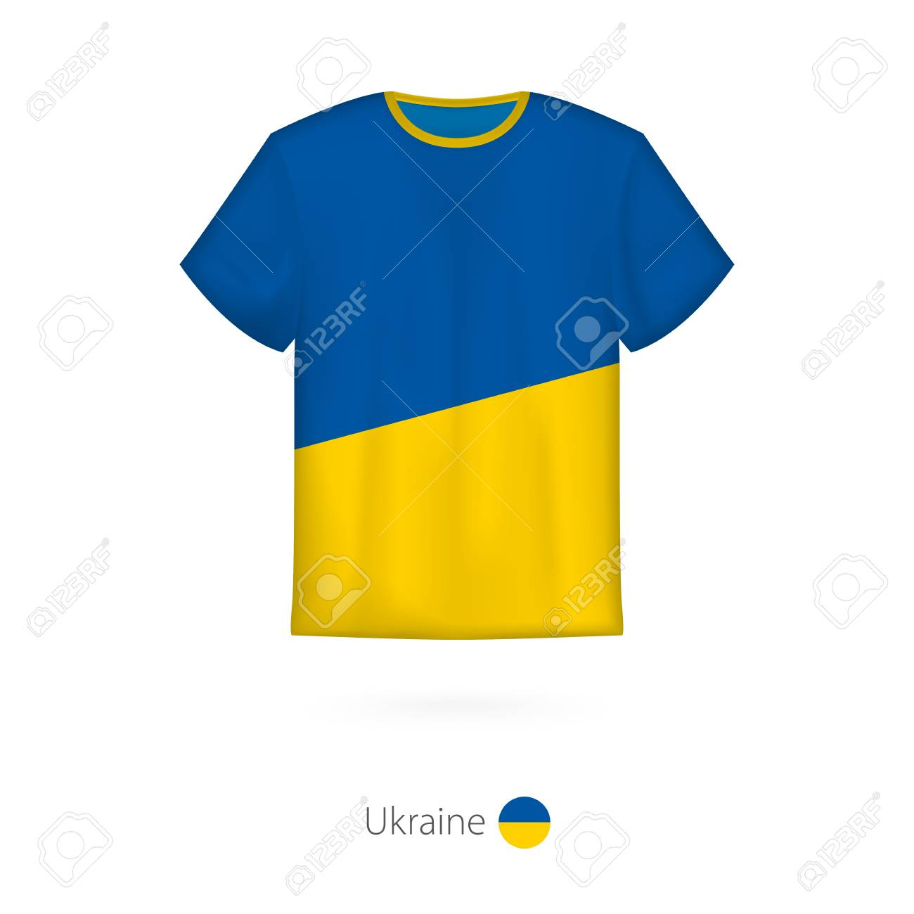 7c41d2358 T-shirt design with flag of Ukraine. T-shirt vector template. Stock