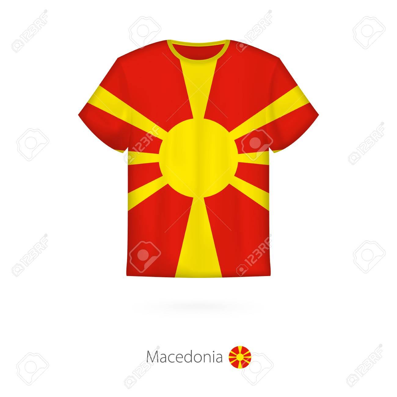 ae241b5ac T-shirt design with flag of Macedonia. T-shirt vector template. Stock
