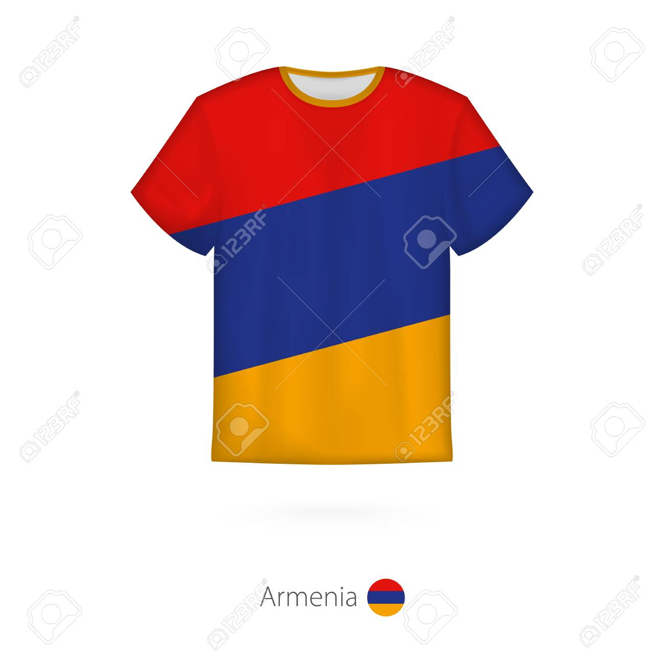 1ae915f77 T-shirt design with flag of Armenia. T-shirt vector template. Stock