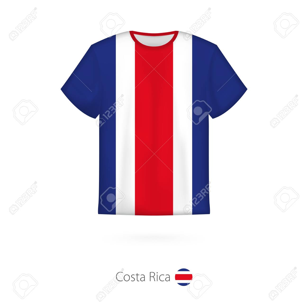 5abe8e43815 T-shirt Design With Flag Of Costa Rica. T-shirt Vector Template ...