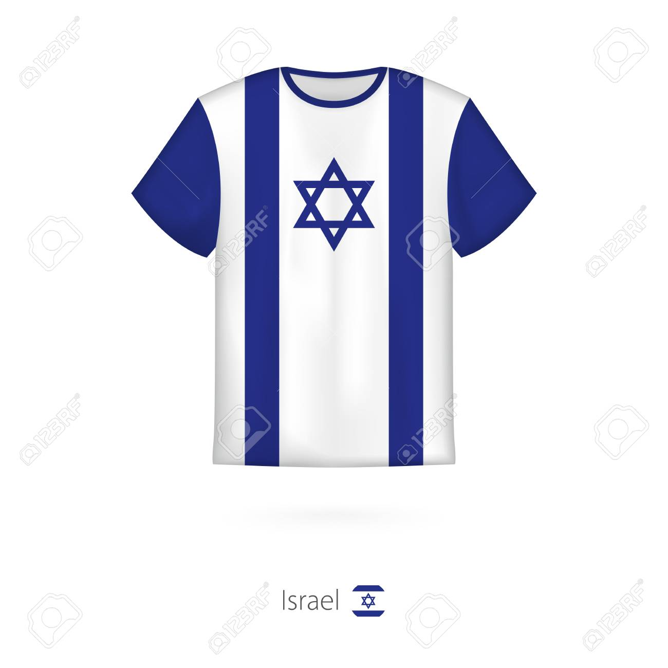 c05fe7177 T-shirt Design With Flag Of Israel. T-shirt Vector Template. Royalty ...
