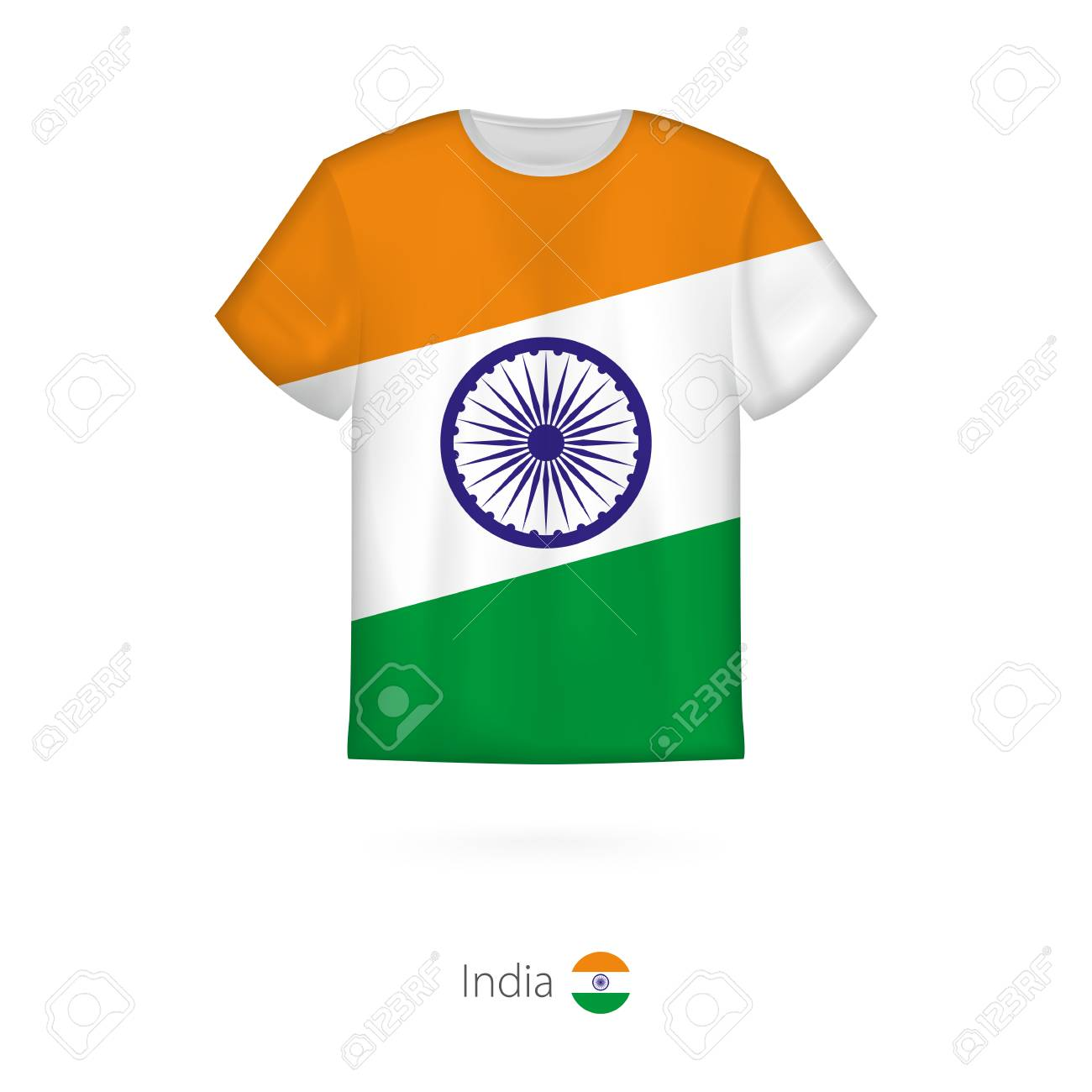 7fc2a1105 T-shirt Design With Flag Of India. T-shirt Vector Template. Royalty ...