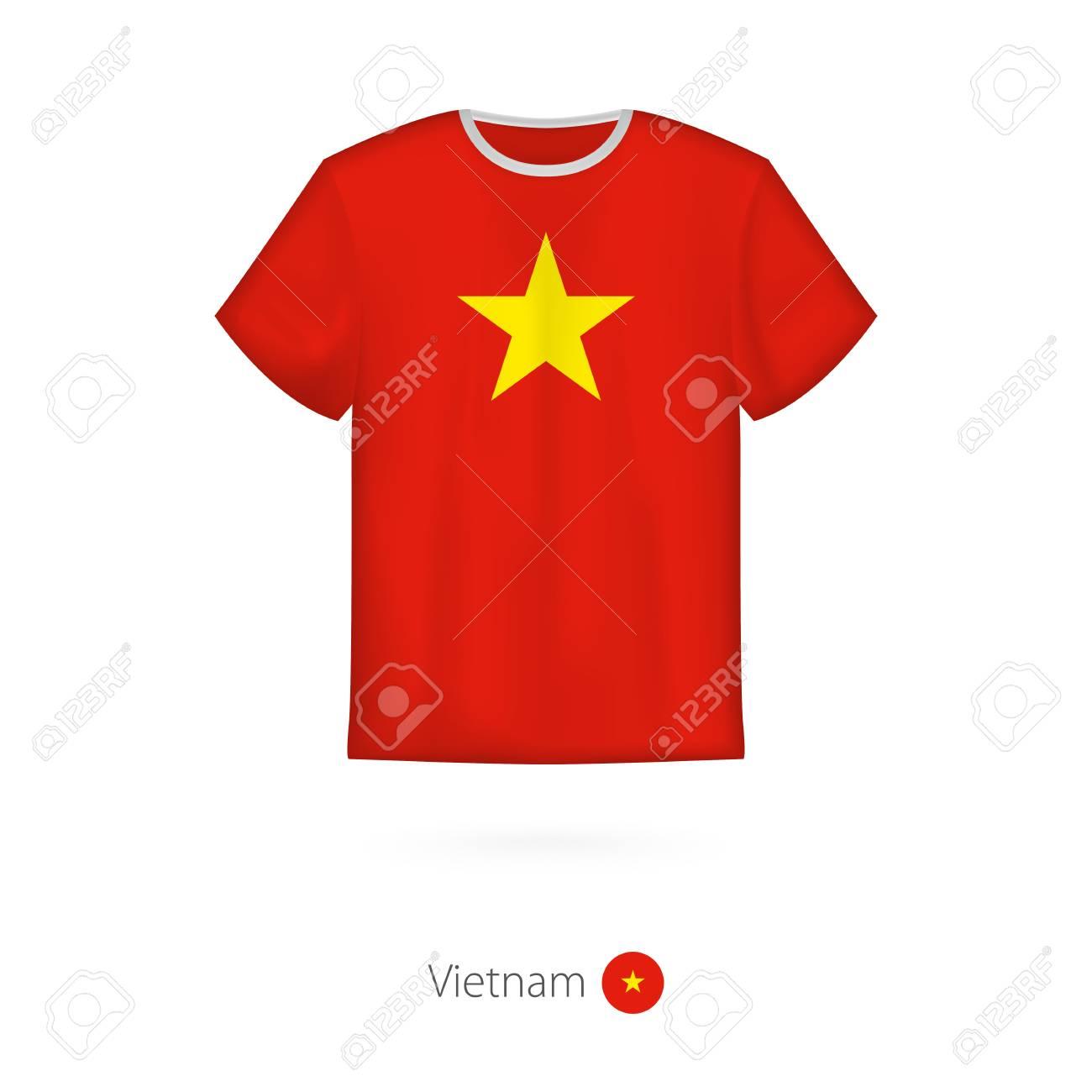 T Shirt Design With Flag Of Vietnam T Shirt Vector Template