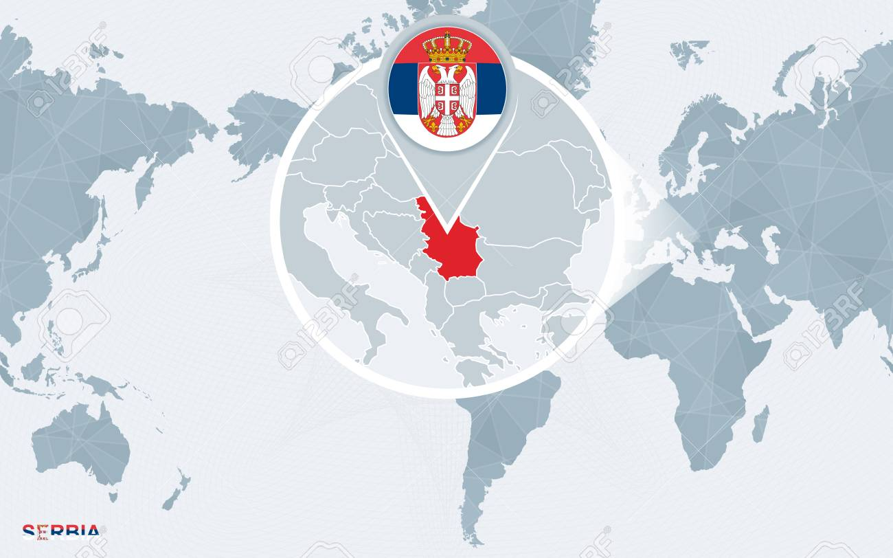 serbia on the world map