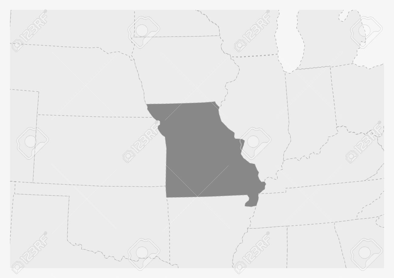 Map of USA with highlighted Missouri map, gray map of US State.. Gray State Map Usa on gray italy map, gray russia map, gray global map, gray poland map, gray world map, gray europe map, gray belgium map, gray puerto rico map, gray canada map, gray indonesia map, gray mexico map, gray asia map,