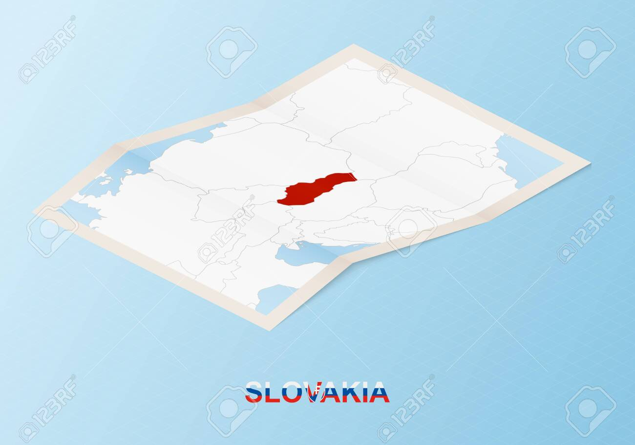 Picture of: Folded Paper Map Of Slovakia With Neighboring Countries In Isometric Royalty Free Cliparts Vectors And Stock Illustration Image 156560423